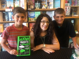 Signing books and talking spooks at Berkelouw Books Cronulla.